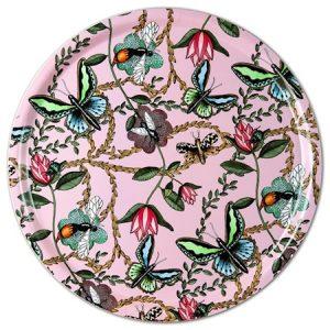 Nadja Wedin Design Bricka 46 cm Bugs & Butterflies Rosa