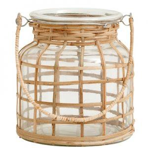 Bamboo Kynttilänjalka Lasi Small