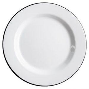 Basic Posliinilautanen 24 cm Valkoinen