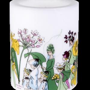 Kynttilä Kukkaiskansa 12 cm Valkoinen