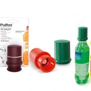 Soda saver, stop- ja painokorkki ruuvilla PET-pulloihin