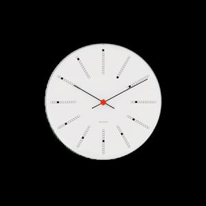 Arne Jacobsen Bankers Seinäkello 29 cm Valkoinen
