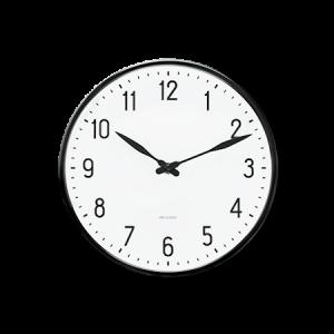 Arne Jacobsen Station Seinäkello 21 cm Valkoinen