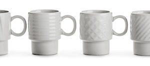 Coffee & More Espressomuki 4 kpl 10 cl Valkoinen