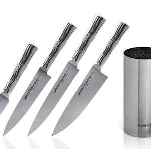 BAMBOO Veitsetti 4 veistä + veitsilohko