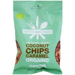 Luomu Kookossipsit Caramel 50g - 46% alennus
