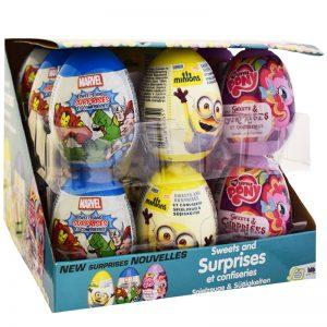 """Laatikollinen Yllätysmunia """"Sweets & Surprises"""" 18 x 10g - 60% alennus"""