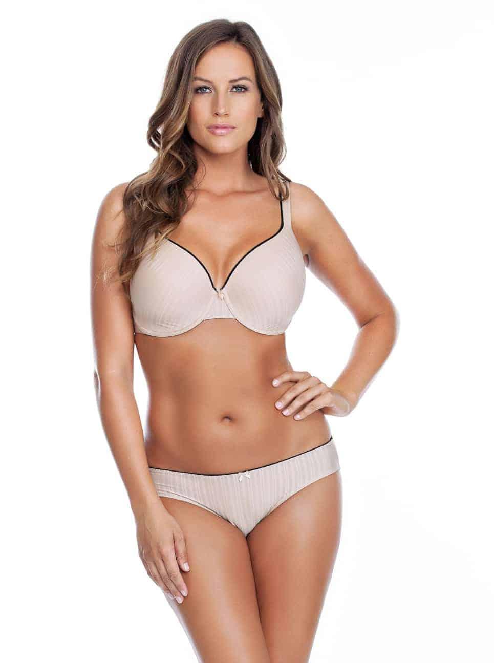 Aline TshirtBraP5251 BikiniP5253 Nude Front 1 - Aline Bikini - Nude - P5253