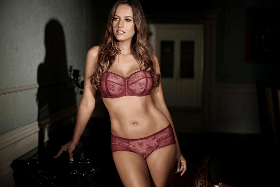 lingerie we love burgundy and lace parfait estelle balconette bra