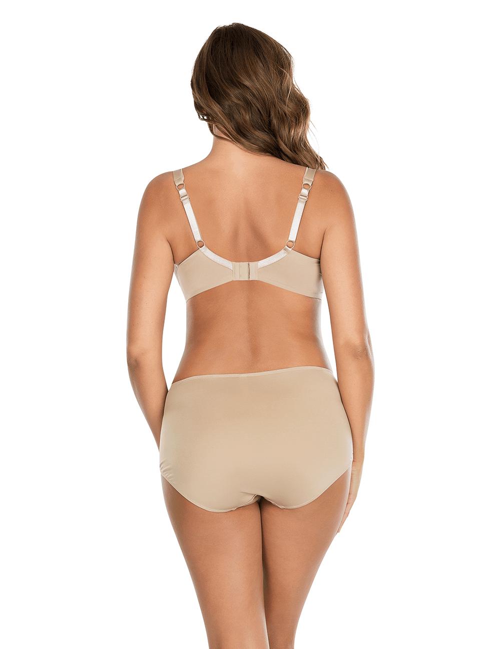 Jeanie TShirtBra4812 HighCutBrief4803 Back - Jeanie T-Shirt Bra - European Nude - 4812