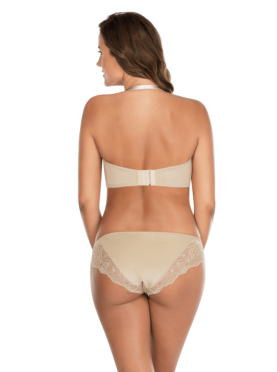 Elissa ContourUnderwireBraP5011 BikiniP5013 ENude Halter Back - Elissa Strappless Bra - European Nude - P5011
