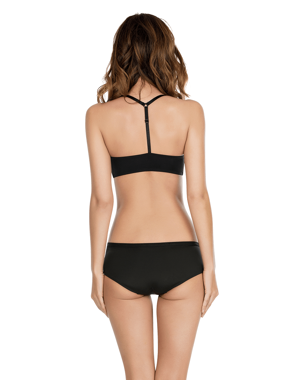Lynn YBackFrontClosureBraP13122 HipsterP13015 Black Back - Lynn Y-back Front Closure Bra - Black - P13122