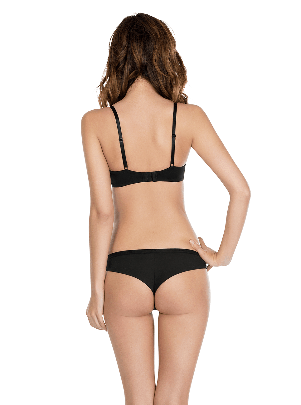 Lynn TshirtBraP13011 BrazilianThongP13014 Black Back - Lynn T-Shirt Bra - Black - P13011