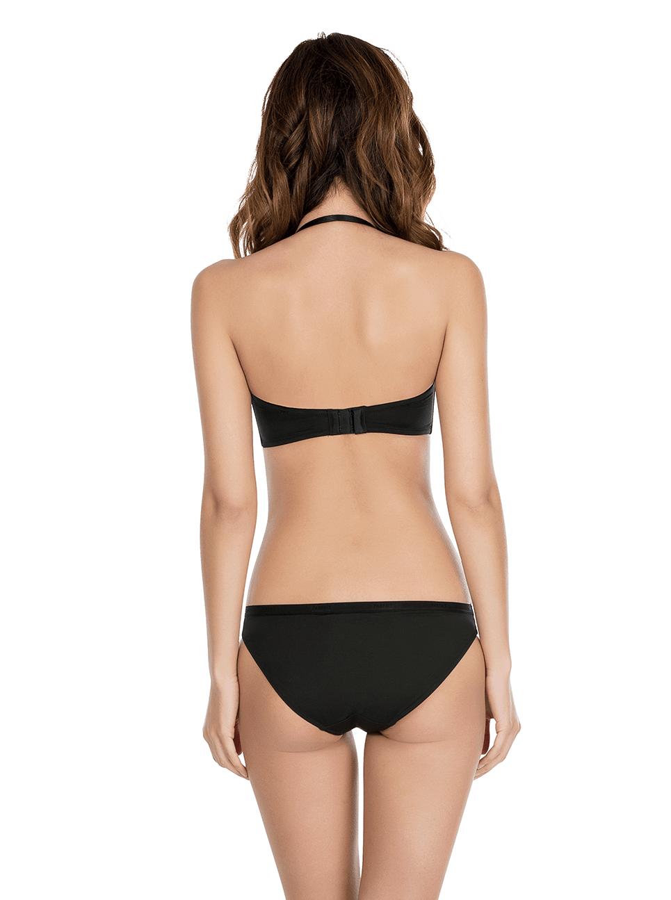 Lynn PushUpStraplessBraP13112 BikiniP13013 Black Halter Back - Lynn Push-up Strapless Bra - Black - P13112