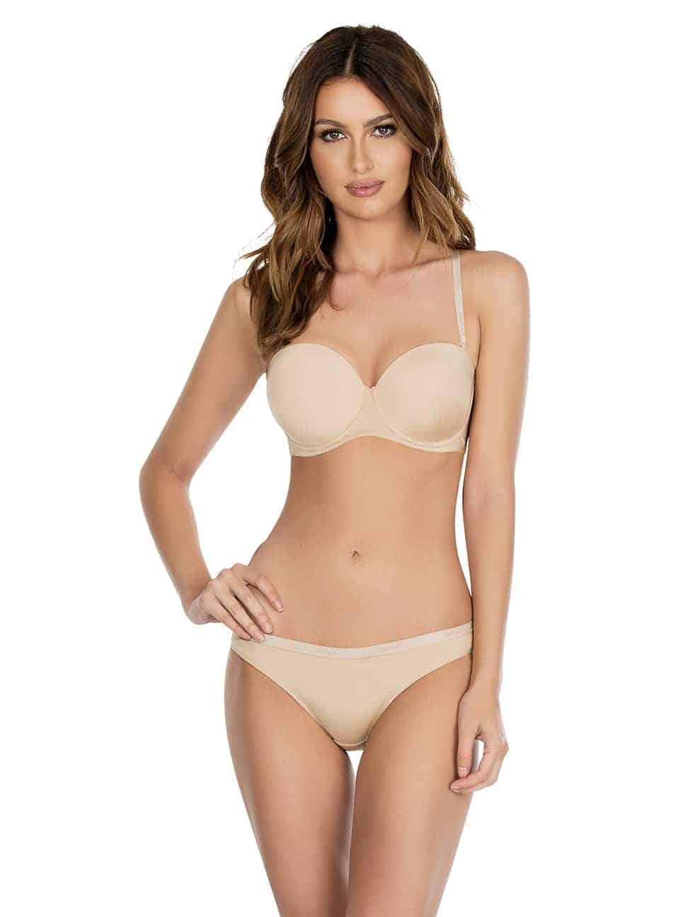 Lynn P13112 P13013 2 - Lynn Push-up Strapless Bra - European Nude - P13112