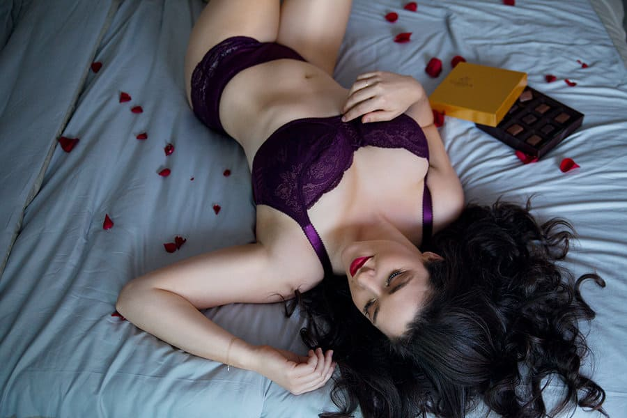parfait destiny bra panty cassis valentine's day