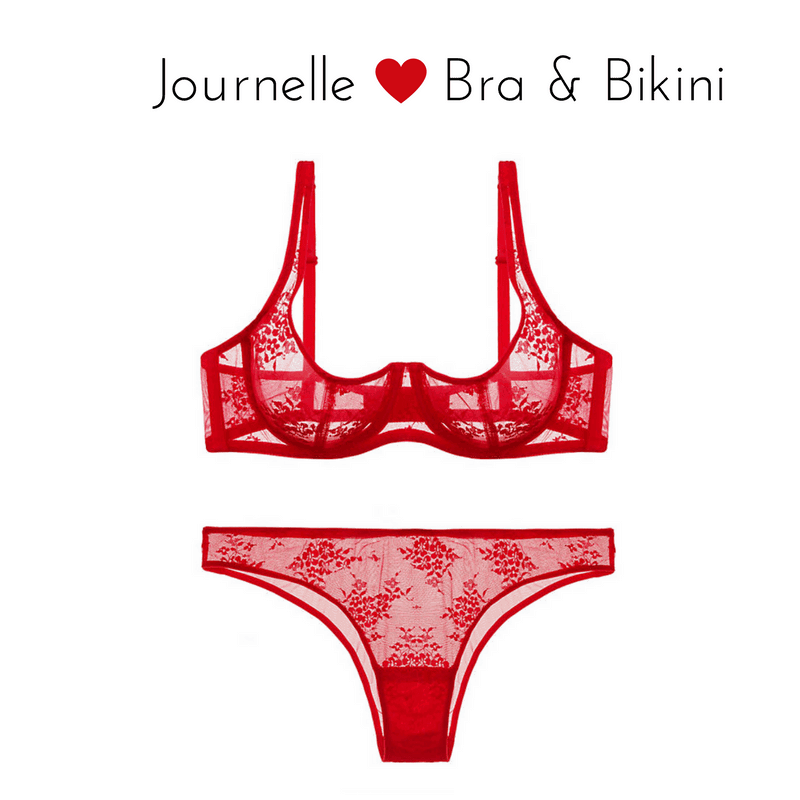 369fcbbce journelle romy demi bra bikini red - ParfaitLingerie.com