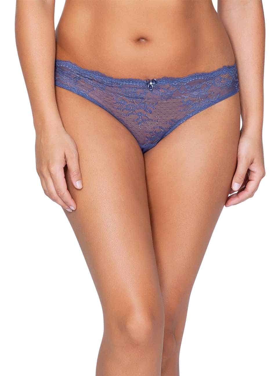 Sandrine P5354 BrazillianThong FrenchBlueFront - Sandrine Brazilian Thong - French Blue - P5354