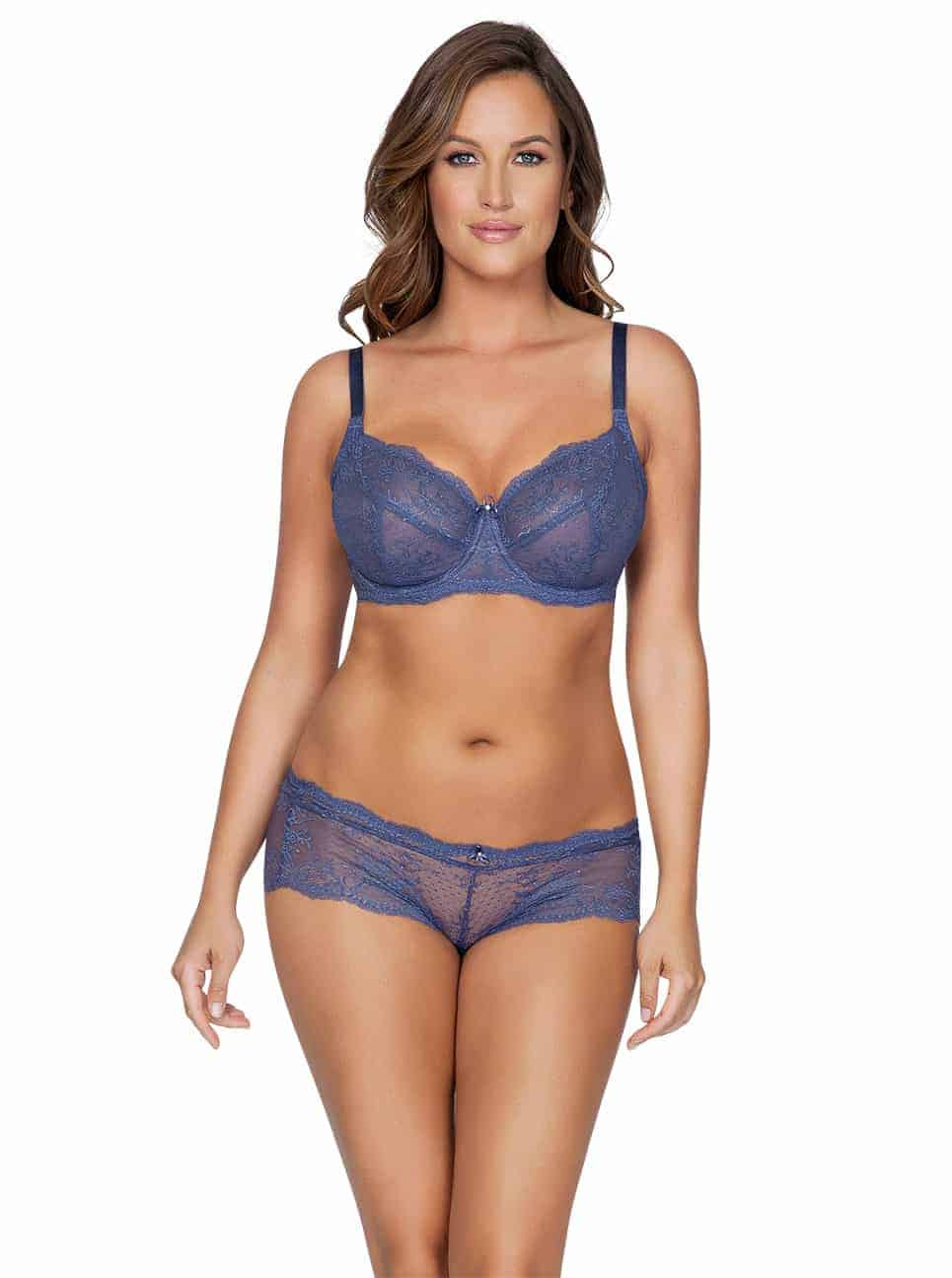 Sandrine P5352 UnlinedWire P5355 Hipster FrenchBlue Front copy 2 - Sandrine Unlined Wire Bra - French Blue - P5352