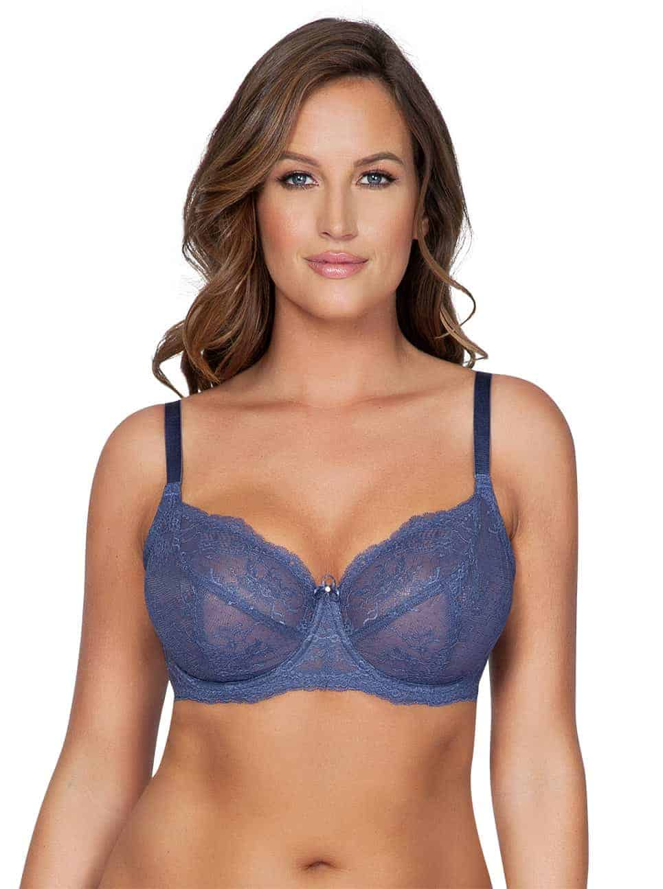 Sandrine P5352 UnlinedWire FrenchBlue Front - Sandrine Unlined Wire Bra - French Blue - P5352