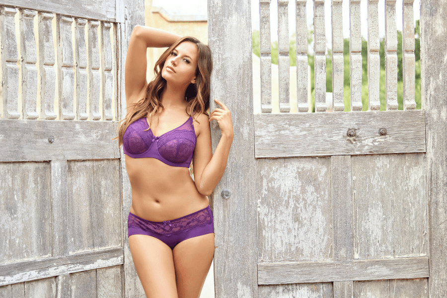 lingerie we love shades of purple carole lace unlined wire bra
