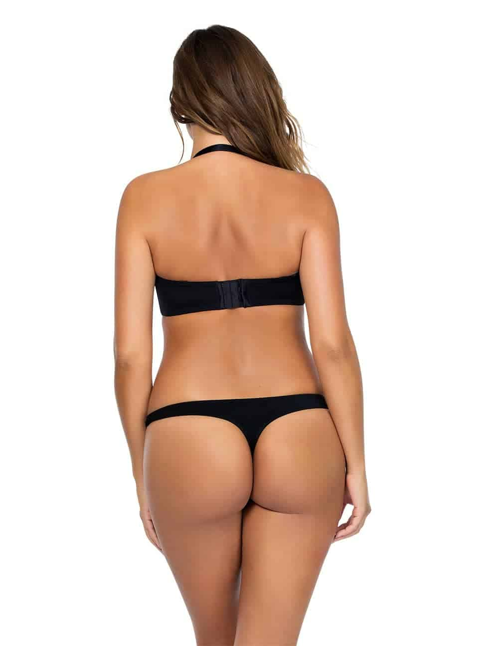 Jeanie StraplessContourBra4815 Black Halter Back - Jeanie Strapless Contour Bra - Black - 4815