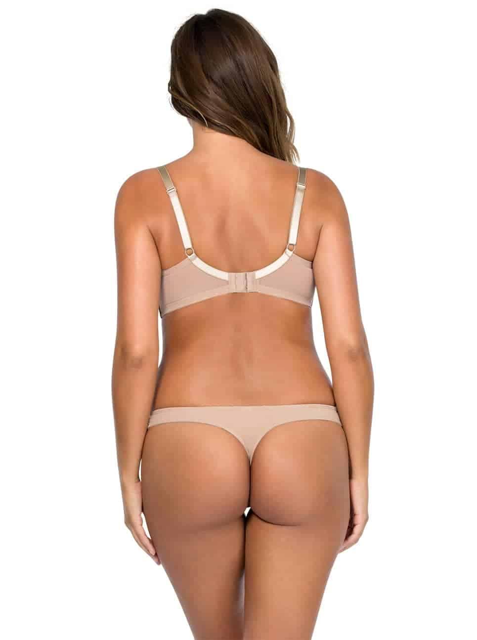 Jeanie PlungeMoldedBra4801 Thong4804 Enude Back - Jeanie Plunge Molded Bra - European Nude - 4801