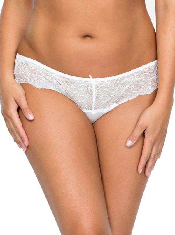 Elissa bikin5013 PearlWhite Front copy 600x805 - Elissa Bikini - Pearl White - P5013