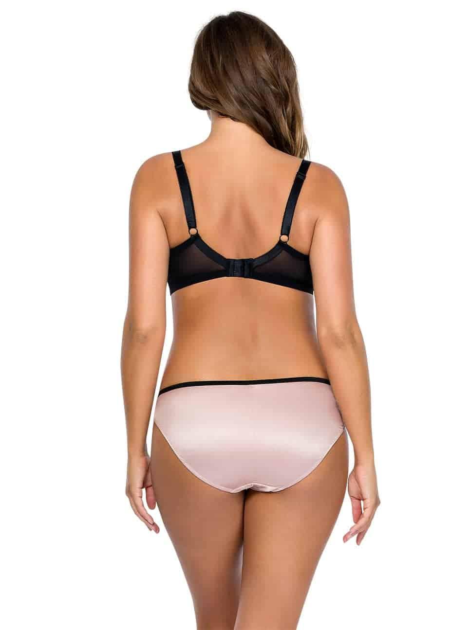 Charlotte BalconetBra6931 Bikini6905 DusyRoseBlack Back - Charlotte Bikini - Dusty Rose w Black - 6905