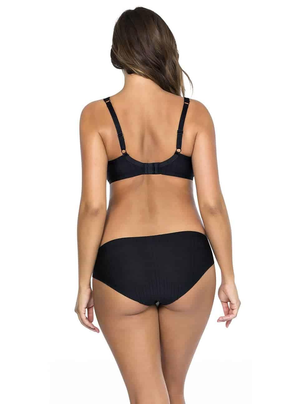 Aline TShirtBraP5251 BikiniP5253 Black Back - Aline Bikini - Black - P5253