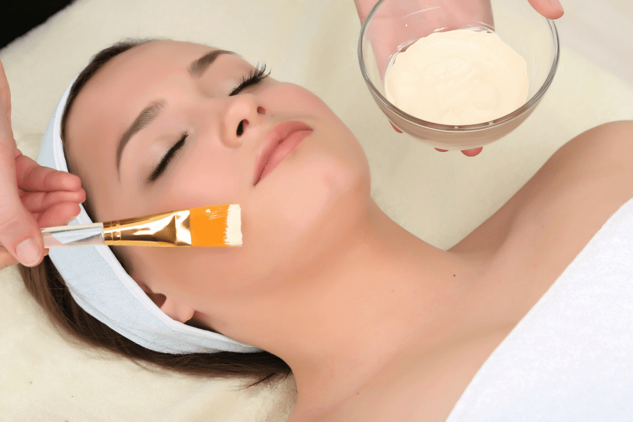 treat yourself to a facial at a spa