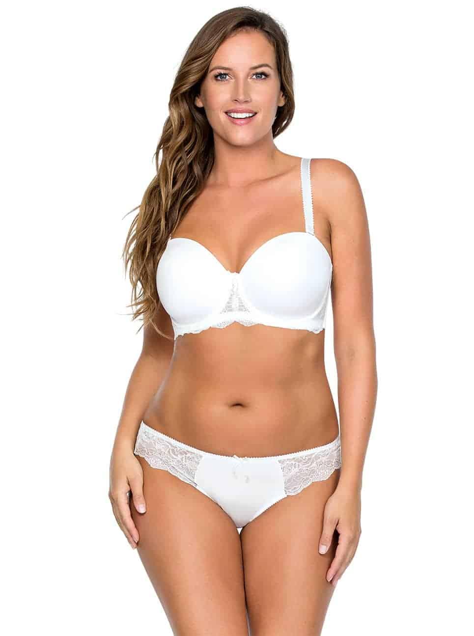 4538261b990e05 Elissa StraplessBraP5011 BrazilianThongP5014 PearlWhite Front copy - Elissa  Strapless Bra - Pearl White - P5011 ...