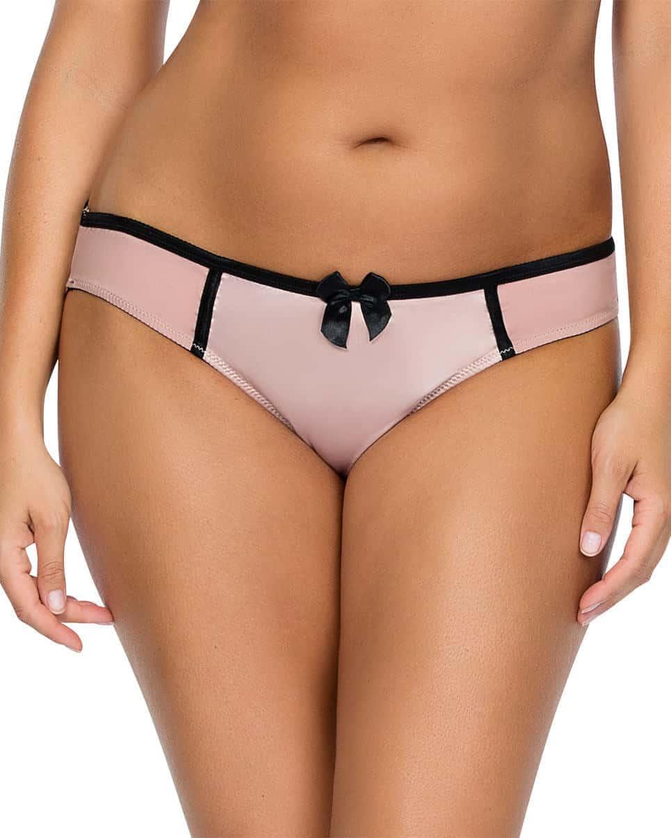 Charlotte Bikini6905 DusyRoseBlack Front - Charlotte Bikini - Dusty Rose w Black - 6905