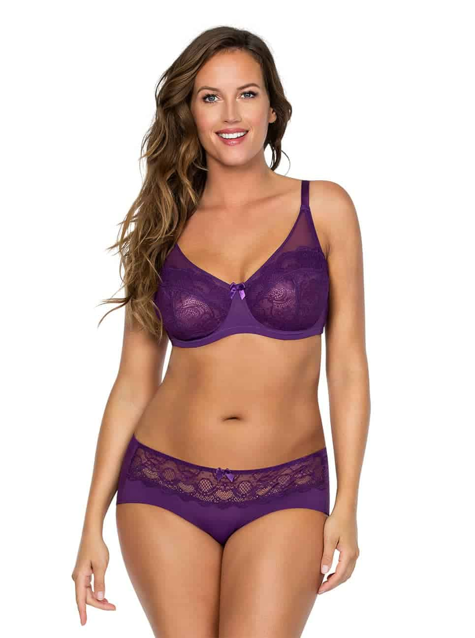 Carole WireBra3102 Hipster3105 Imperial Purple Front copy 2 - Carole Wire Bra - Imperial Purple - 3102