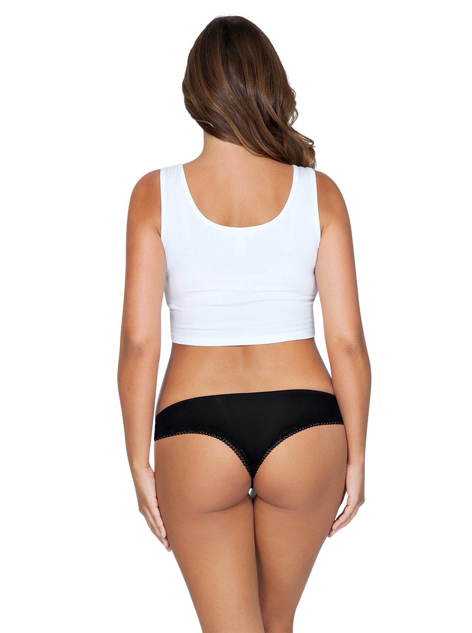 ParfaitPanty Thong PP401A Black Back - So Lovely Thong Black PP401