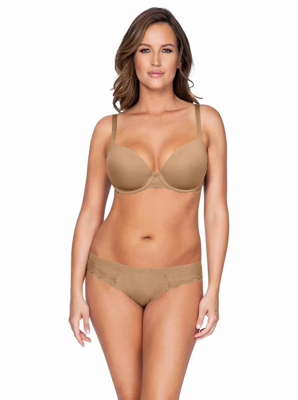 Lydie P5441ContourPadded P5443 Bikini NudeFront copy - Lydie Contour Padded Bra – European Nude – P5441