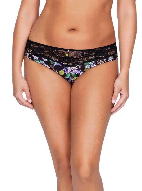 Ava P5373 BikiniFront 600x805 - Ava Bikini - Black Floral - P5373