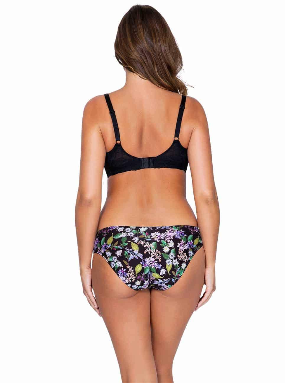 Ava P5371 PaddedBra P5373 BikiniBack 1 - Ava Bikini - Black Floral - P5373