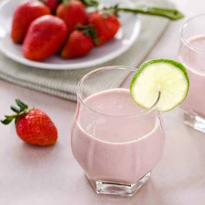 cook eat paleo paleo strawberry coconut smoothie - 10 Easy Real Food Snacks – No Baking Required!