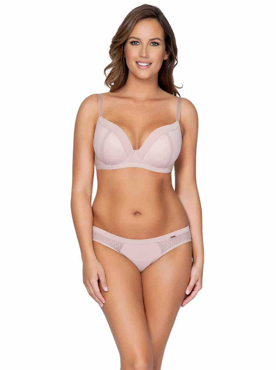 WendyP5411 PlungePadded P5413 BikiniNudeFront - Wendy Bikini – Victorian Rose – P5413
