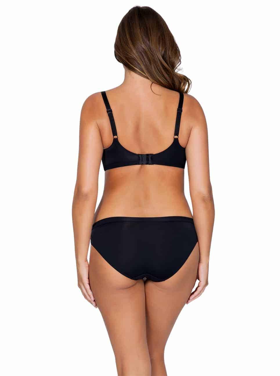 WendyP5411 PlungePadded P5413 BikiniBlackBack - Wendy Plunge Padded Bra - Black – P5411