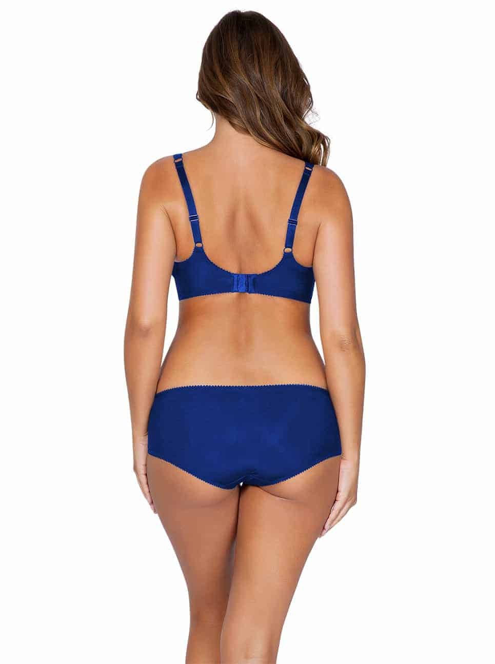 Marion P5392UnlinedWire P5395HipsterBlueBack copy - Marion Unlined Wire Bra - Lapis Blue – P5392