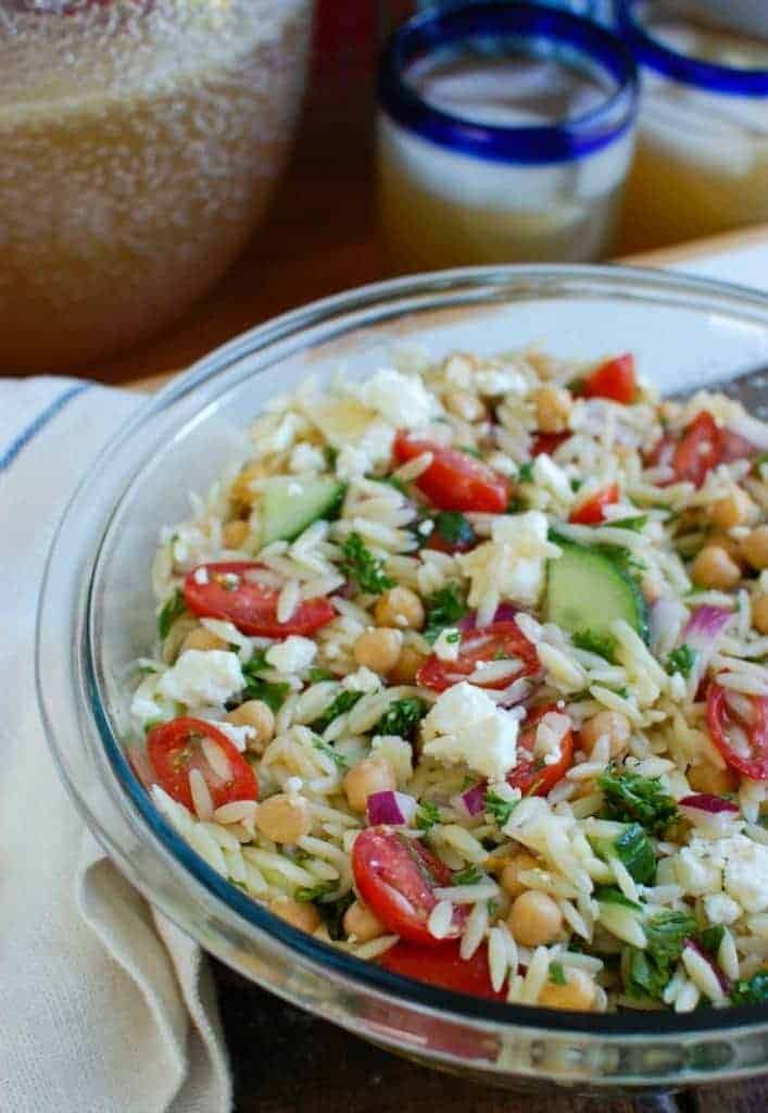 a cedar spoon summer orzo pasta salad - 12 Refreshing Dinner Dishes Perfect for Hot Weather