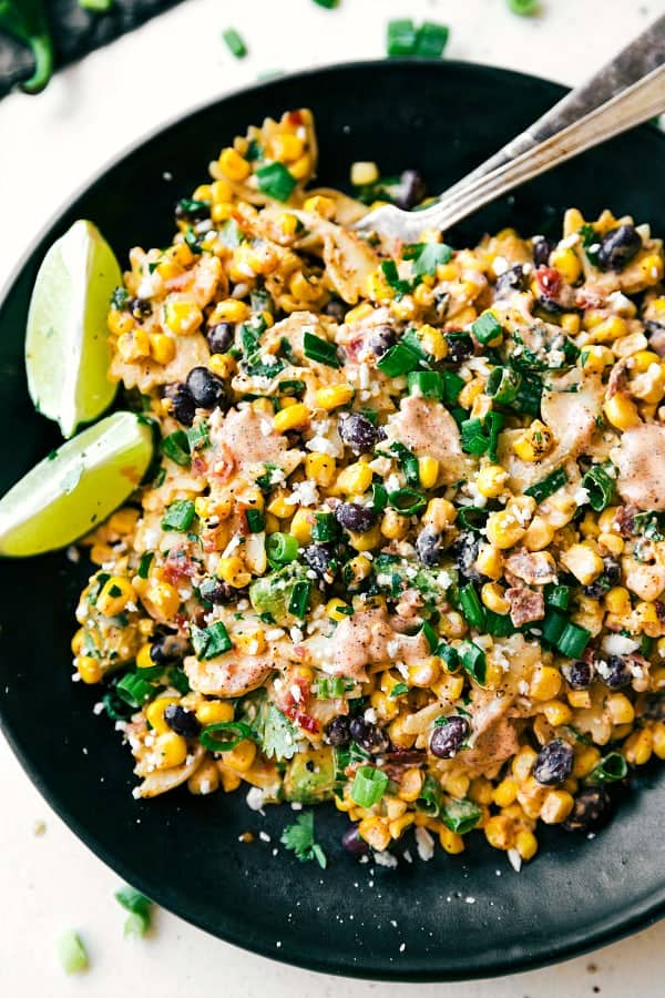 chelseas messy apron mexican street corn pasta salad - 12 Refreshing Dinner Dishes Perfect for Hot Weather