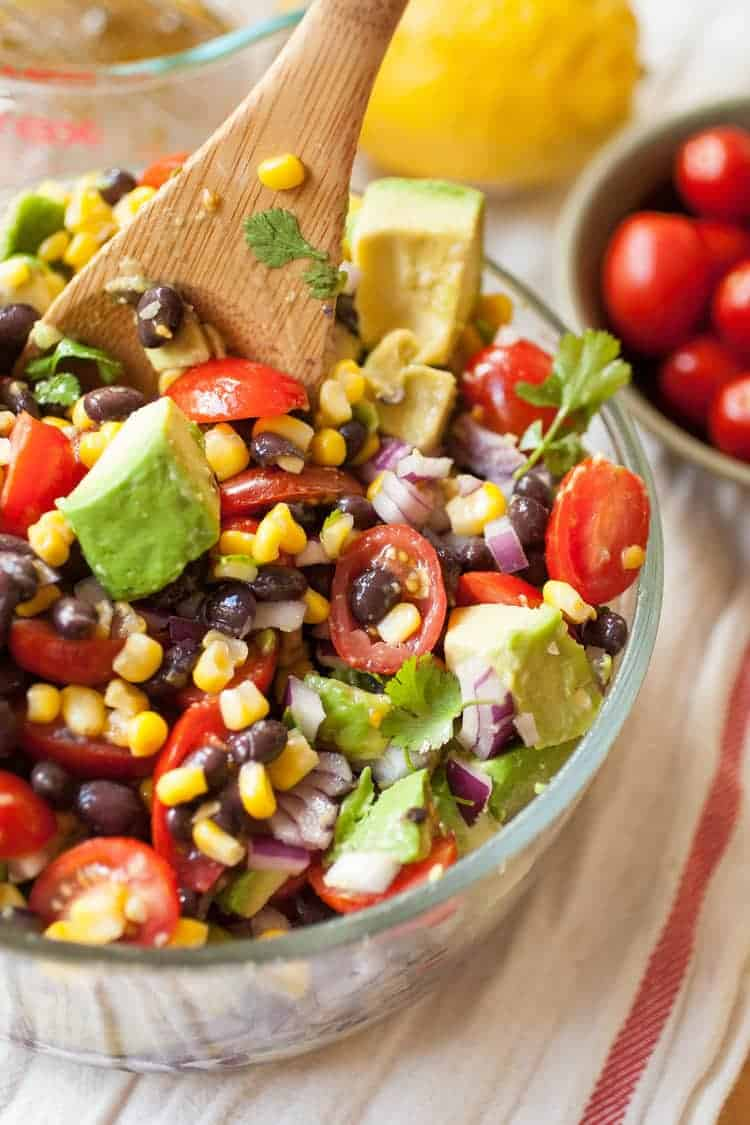 produce on parade summer corn avocado black bean salad - 12 Refreshing Dinner Dishes Perfect for Hot Weather