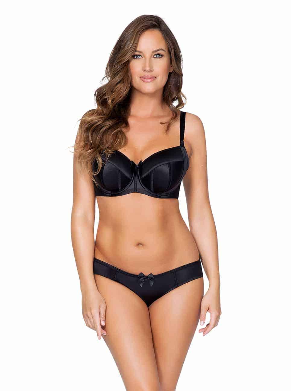 Charlotte PaddedBra6901 Bikini6905 Black Front 1 - Charlotte Bikini - Black - 6905