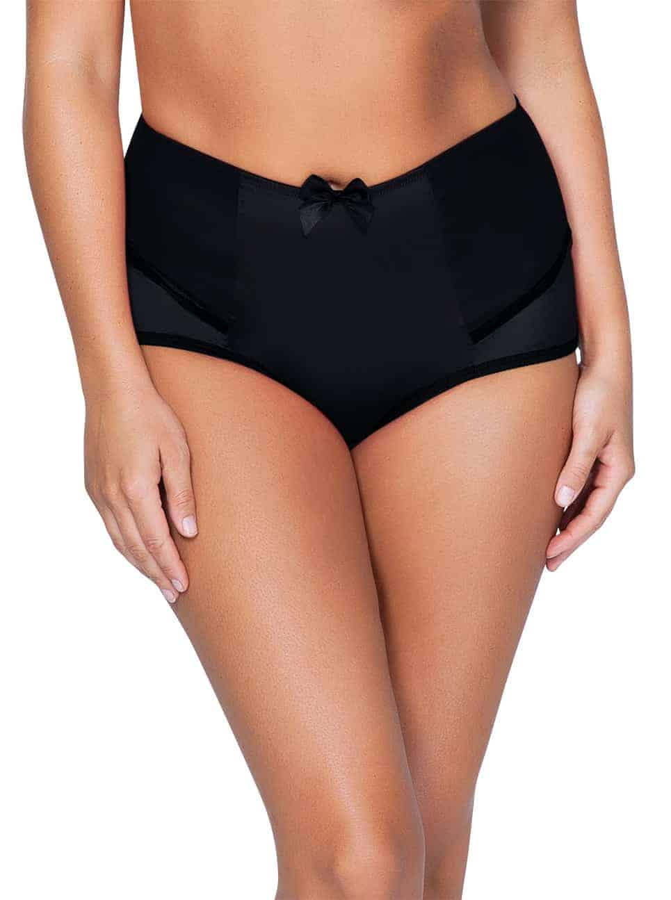 Charlotte 6917 HighWaistedBriefBlack Front copy - Charlotte Highwaist Brief - Black - 6917