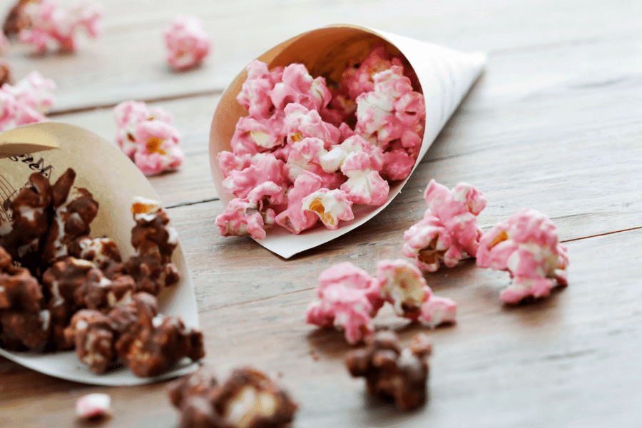 how to make pink popcorn - 8 Healthy Snacks Your Kids Will Love