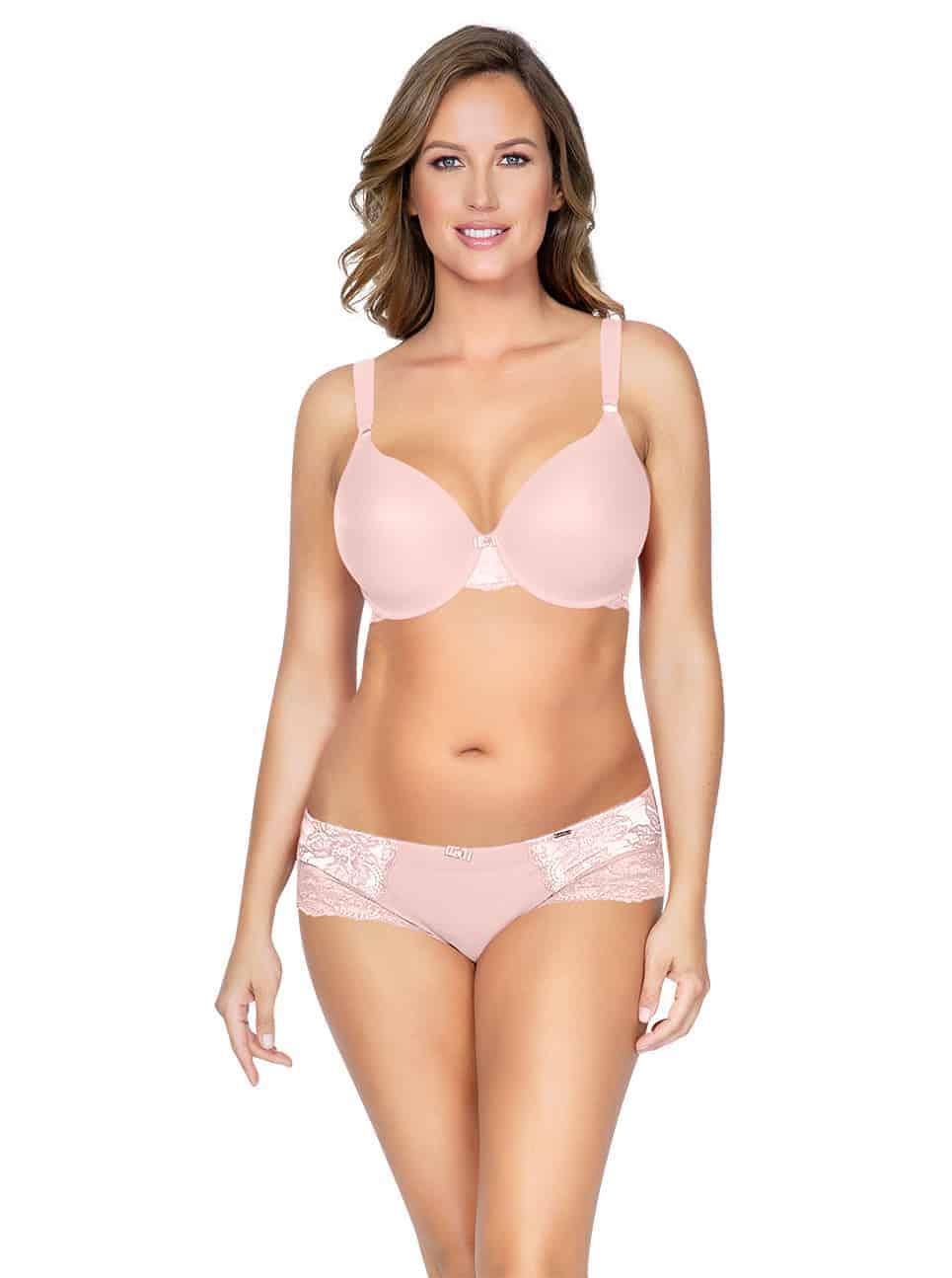 Marion ContourPaddedBraP5391 HipsterP5395 PinkParfait Front copy 2 - Marion Contour Padded Bra - Pink Parfait – P5391