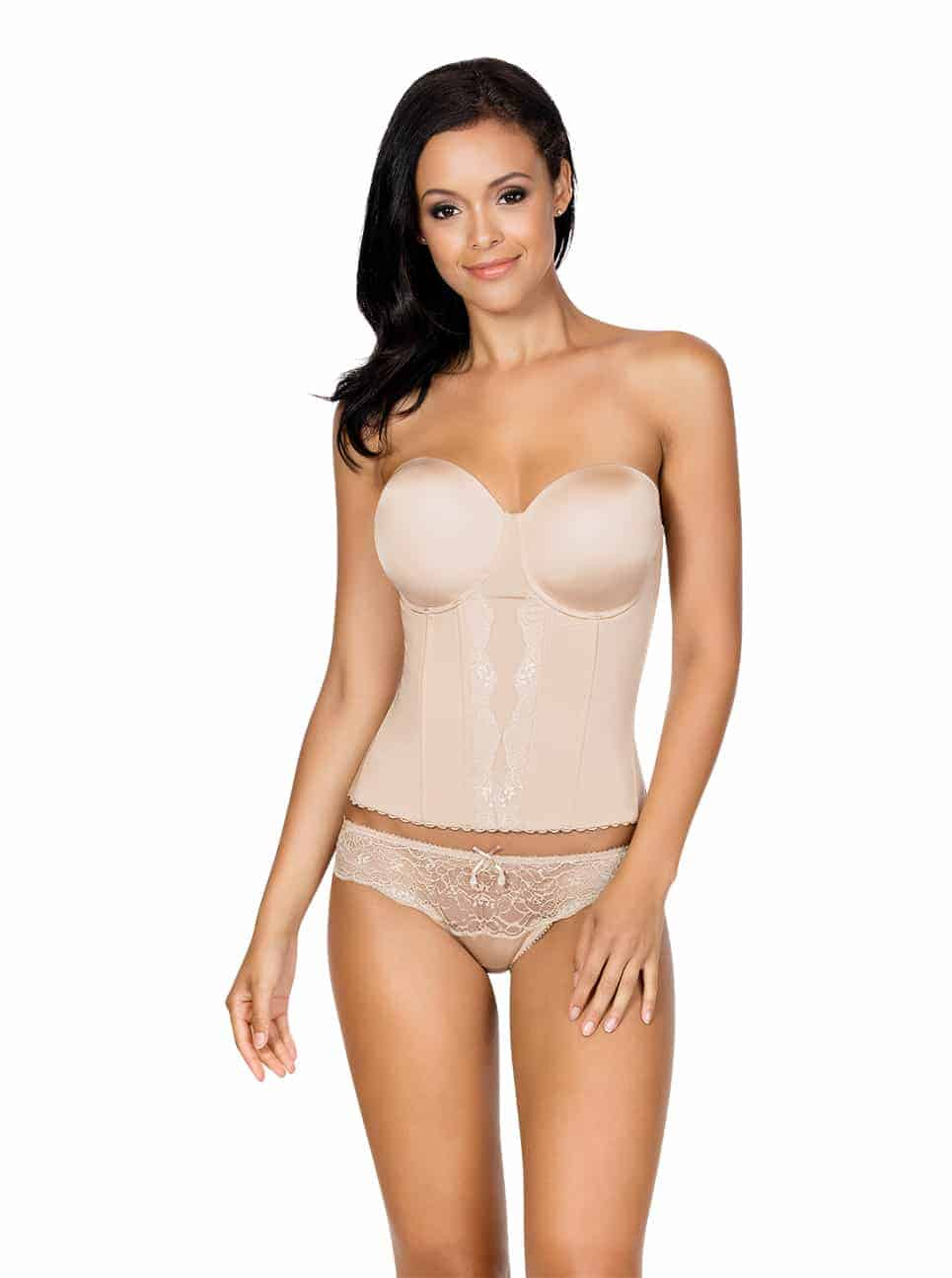 25bd3a455a Elissa Low BackBustierP5017 BikiniP5013 EuropeanNude Front - Elissa Low-Back  Bustier - Nude - P5017 ...